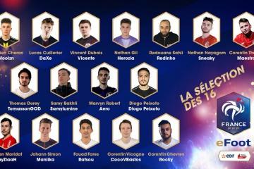 Equipe de France eFoot: Liste des joueurs choisis par la FFF